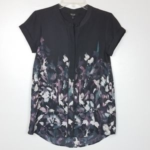 Simply vera abstract floral top
